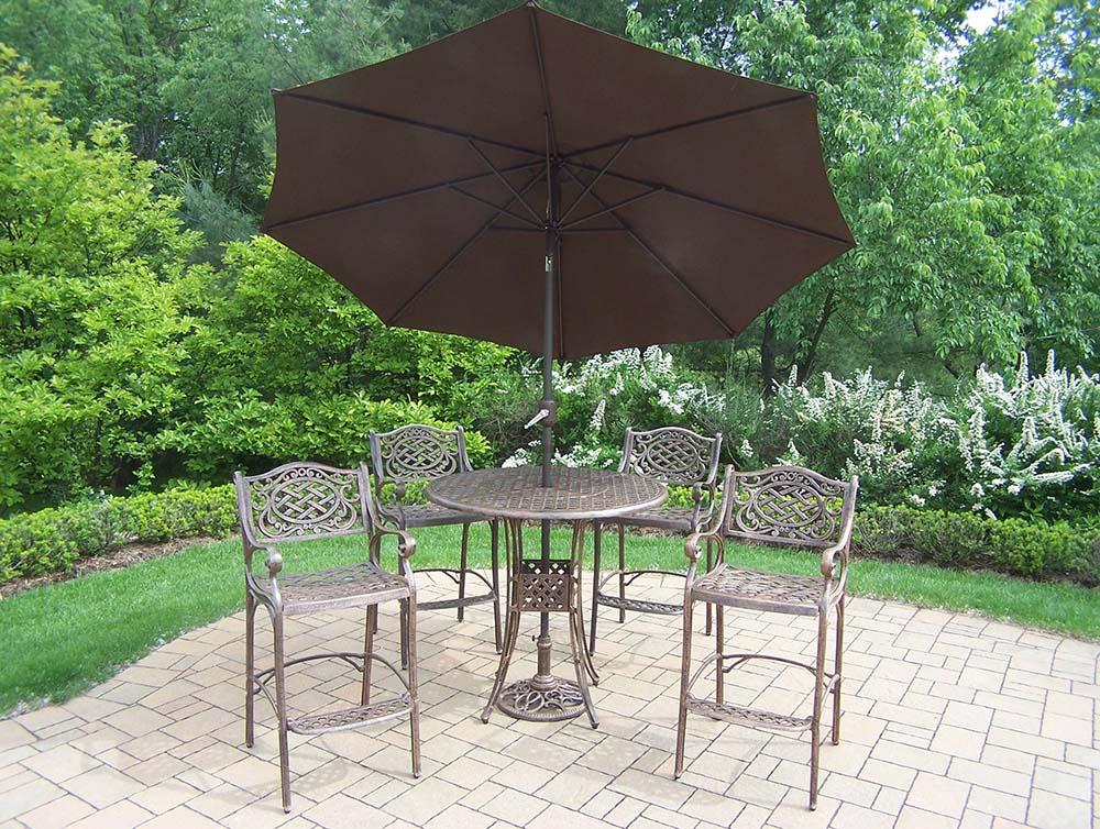 Money saving Mississippi Bar Set Table Bar Stools Umbrella Product Photo