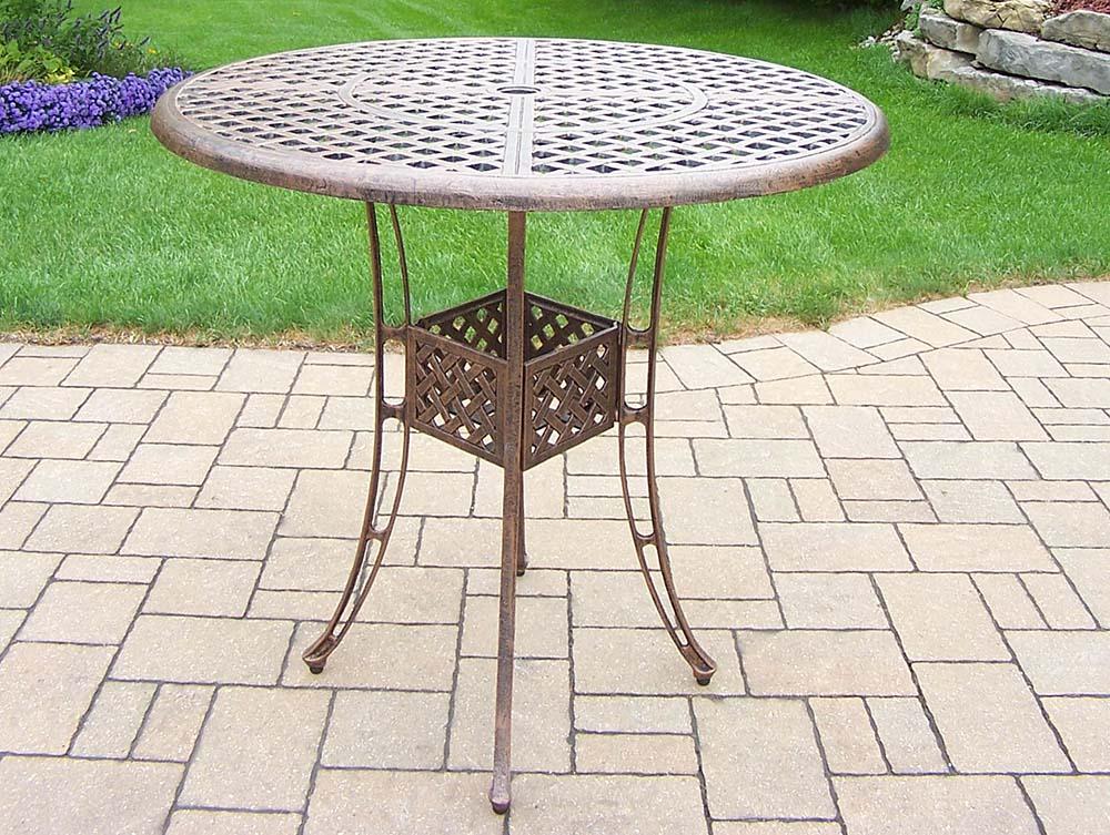 High-class Elite Antique Bronze Cast Aluminum Table Product Photo