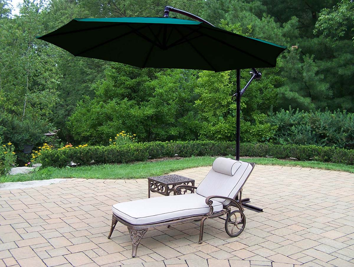 Splendid Elite-Chaise-Lounge-Cushions-Side-Table-Umbrella Product Picture 496