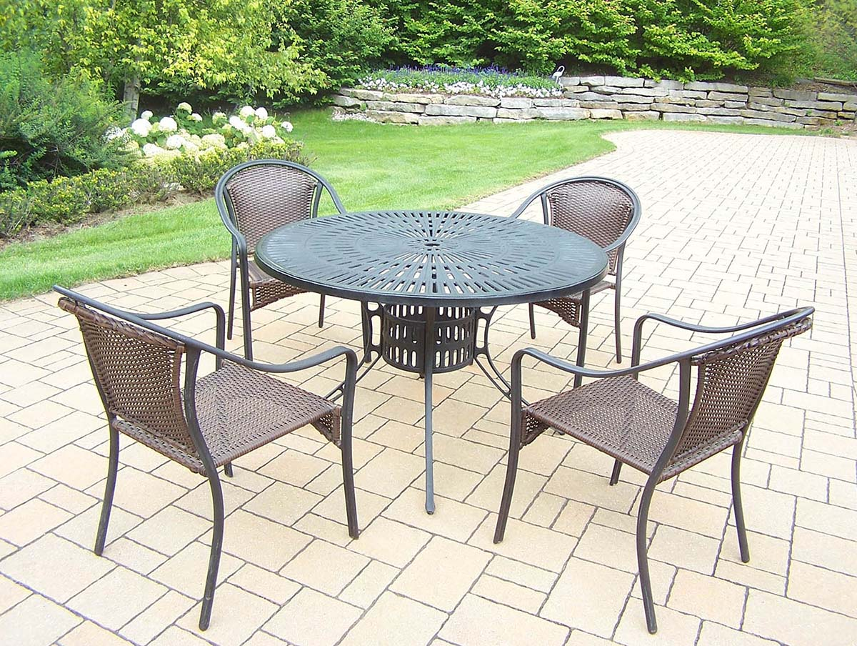 Choose Set Table Stackable Resin Wicker Chairs 2 2060