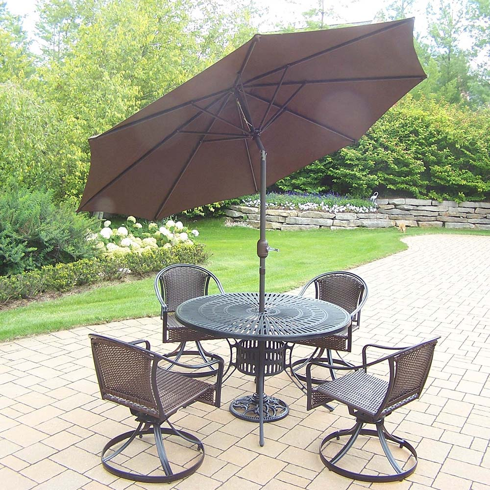 Learn more about Set Table Swivel Wicker Chairs Umbrella 23 425