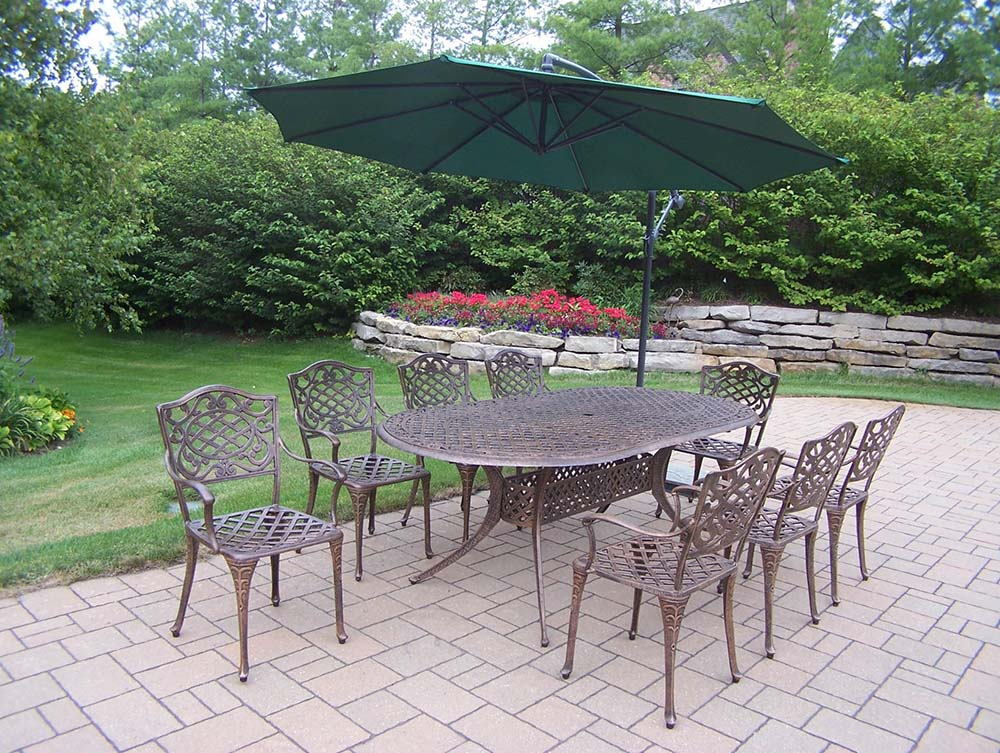 Select Mississippi Oval Dining Set Umbrella 13 2210