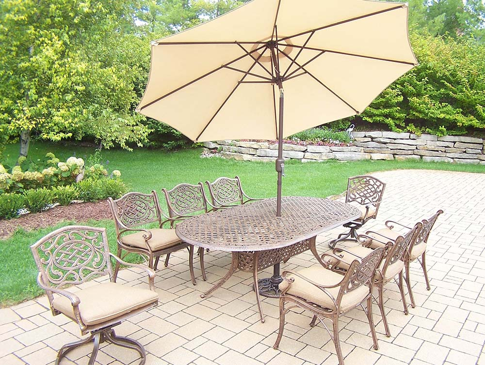 Stunning Mississippi Set Table Chairs Cushions Umbrella Product Photo