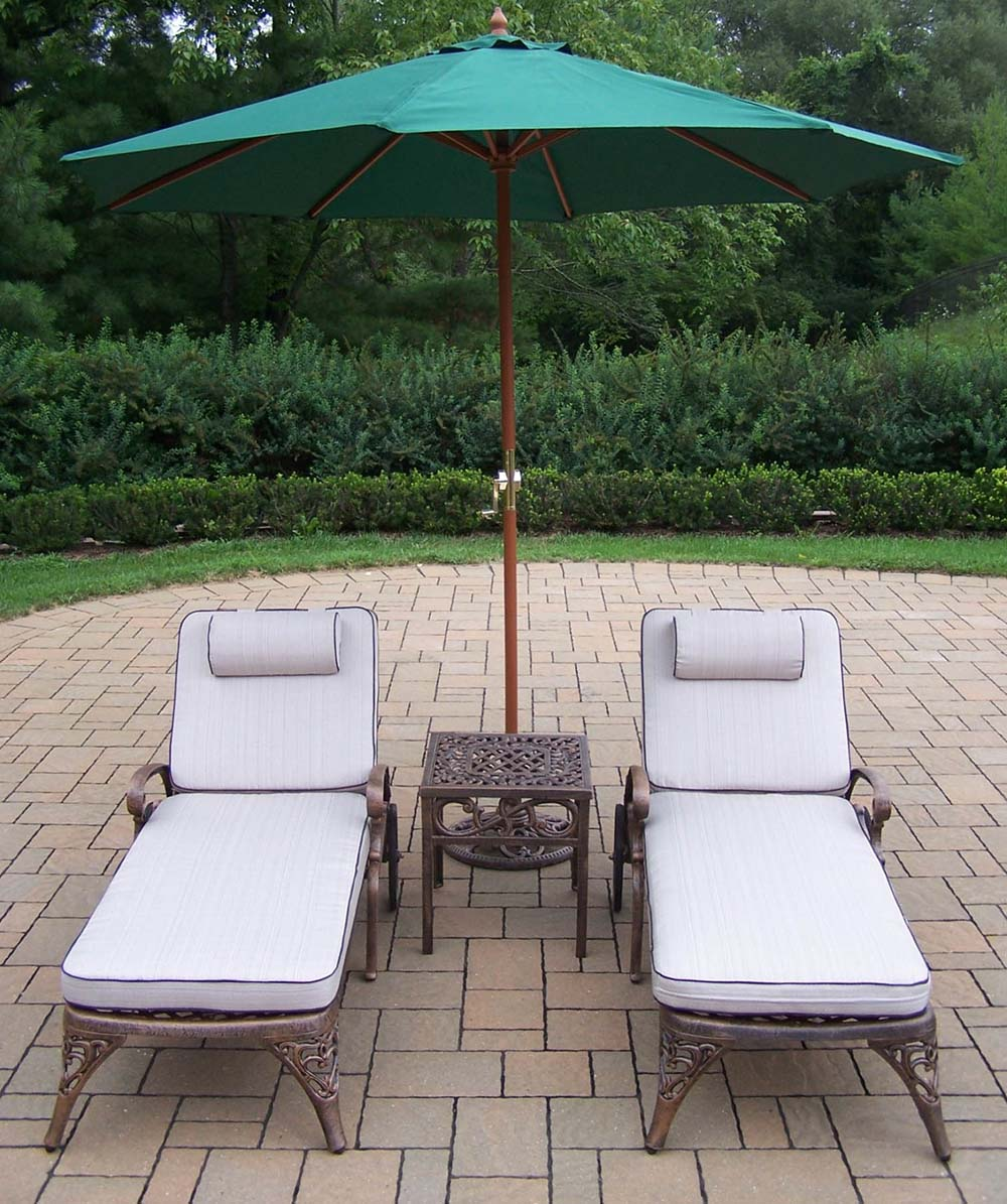 Choose Mississippi Chaise Lounge Table Stand Umbrella 1 12