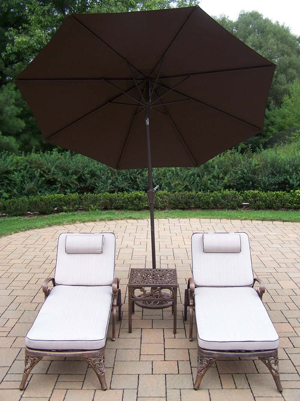 Popular Mississippi Chaise Lounge Table Umbrella Stand Product Photo
