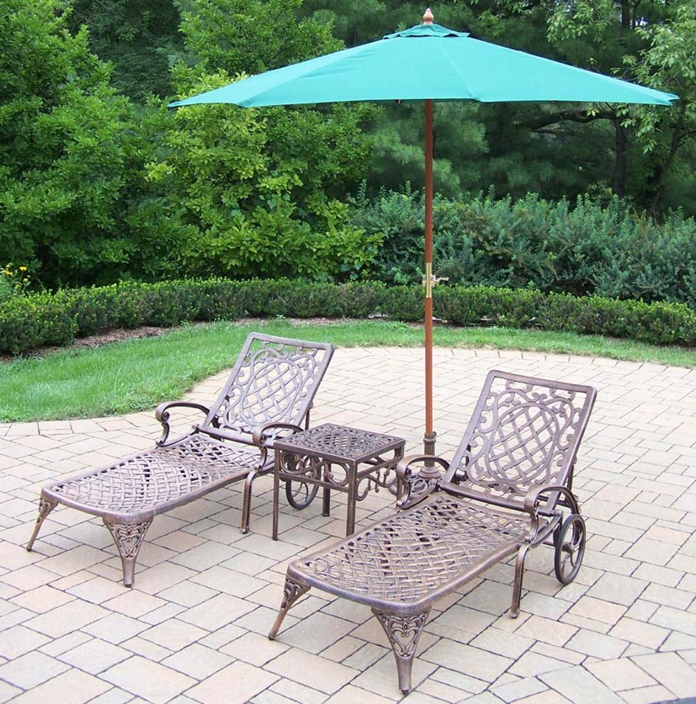 Choose Mississippi Chaise Lounge Umbrella Table Stand 15 2303
