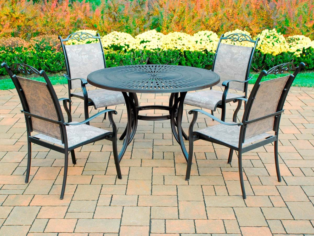 New Coffee Sunray Cascade Table Dining Set 12 1272
