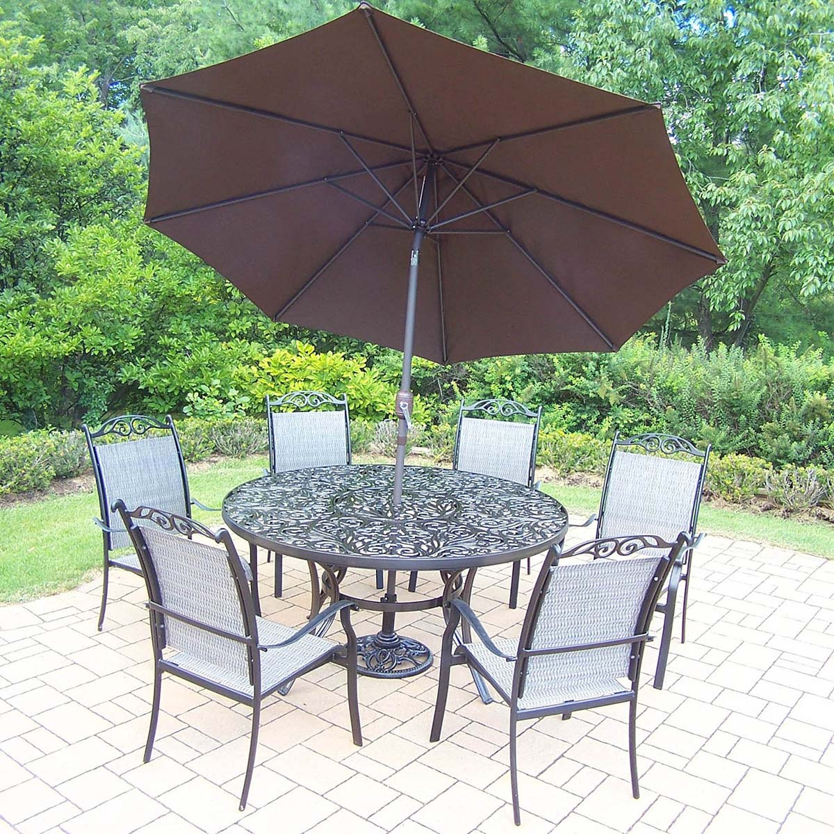 High-class Black-Set-Table-Stackable-Chairs-Umbrella Product Picture 245