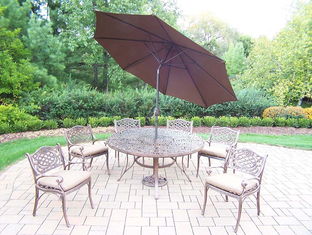 Superb Mississippi Dining Set Table Umbrella Chairs Product Photo