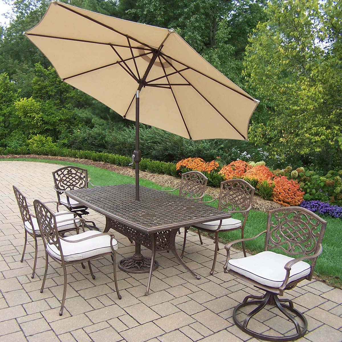 Affordable Mississippi Set Table Chairs Umbrella Rockers Product Photo