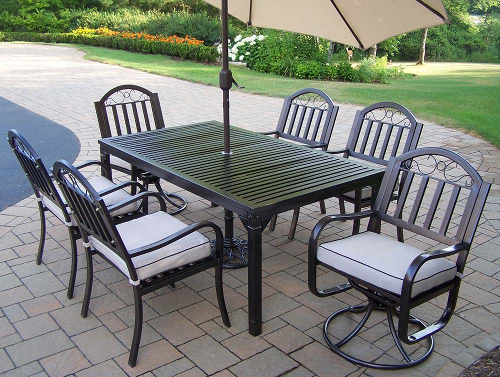 Stylish Rochester Set Chairs Cushions Umbrella Product Photo