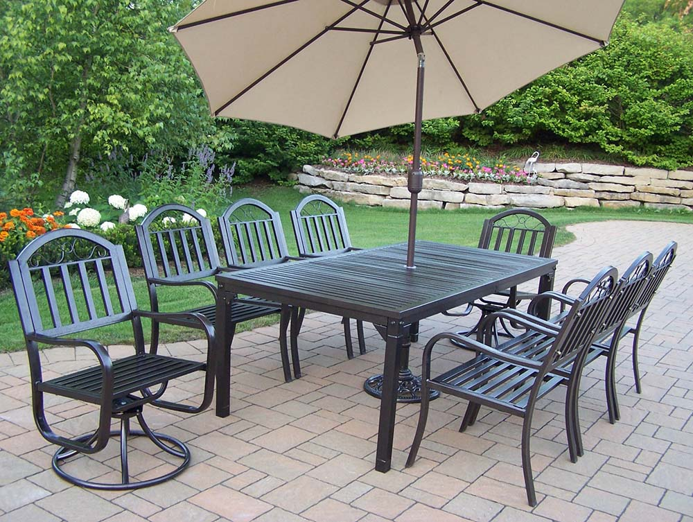 Affordable Rochester Set Swivel Chairs Umbrella Product Photo