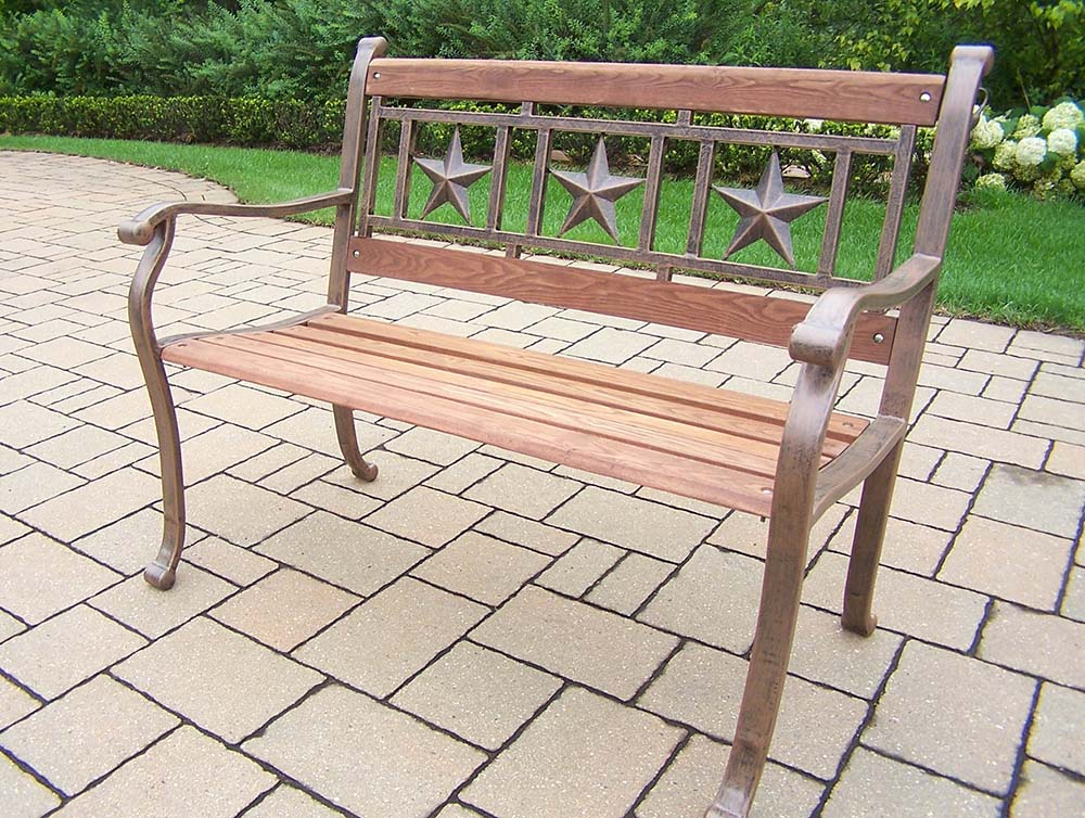 High-class Antique Bronze Triple Star Bench Product Photo