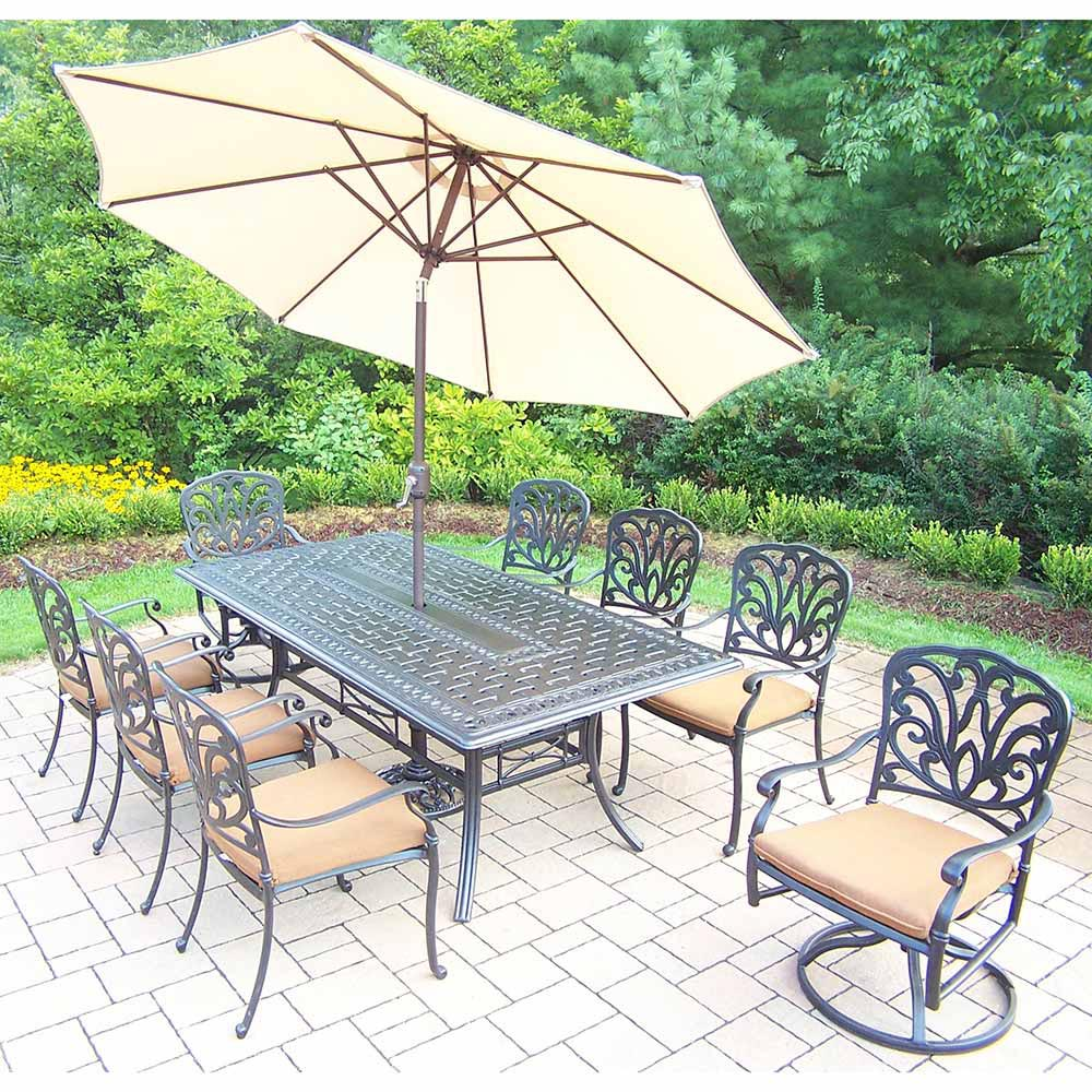 Purchase Hampton Set Table Chairs Rockers Umbrella Product Photo