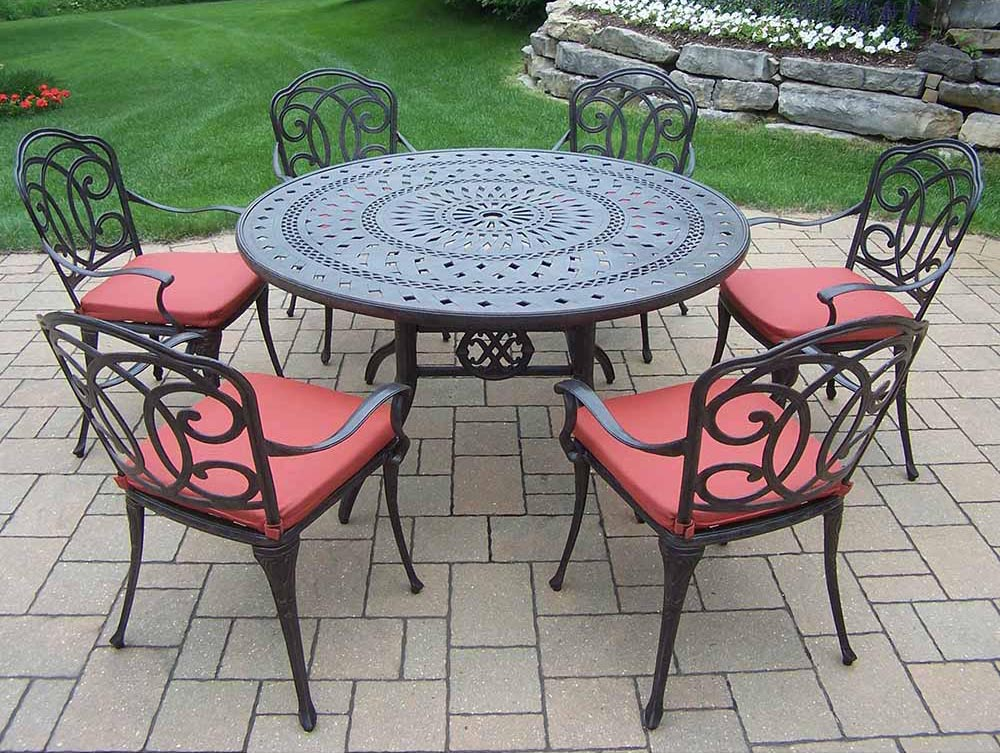 Lovable Aged Berkley Set Table Cushioned Chairs Product Photo