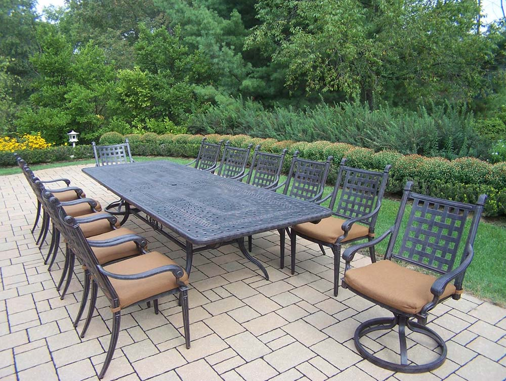 Purchase Aged Belmont Dining Set Table Sunbrella Cushions Product Photo