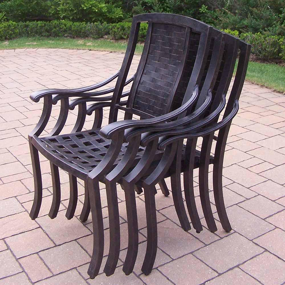 Choose Aged Vanguard Stackable Chairs  2 2060