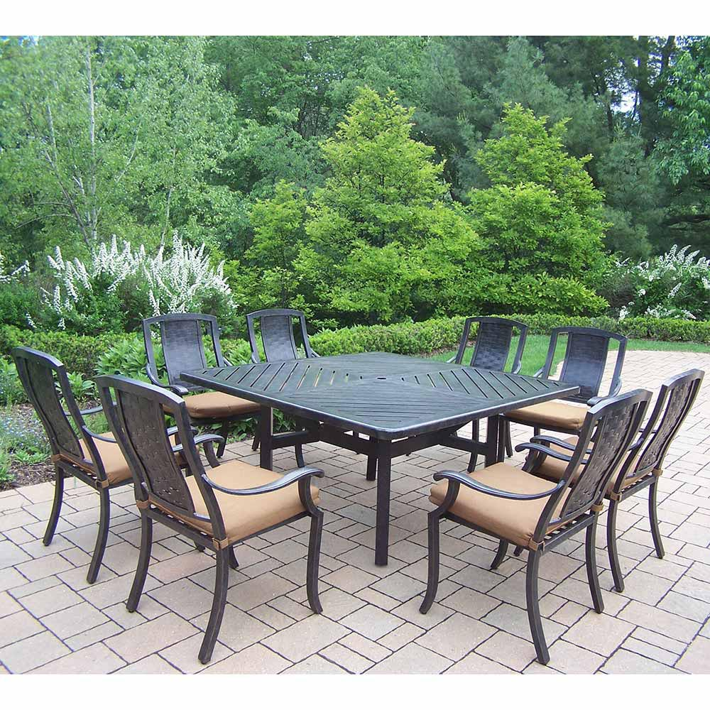 Information about Aged Vanguard Set Table Cushioned Chairs Product Photo