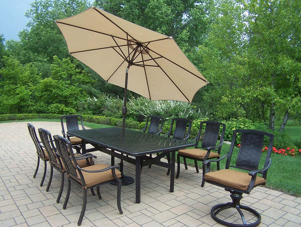 Purchase Aged Vanguard Set Table Chairs Swivel Rocker Product Photo