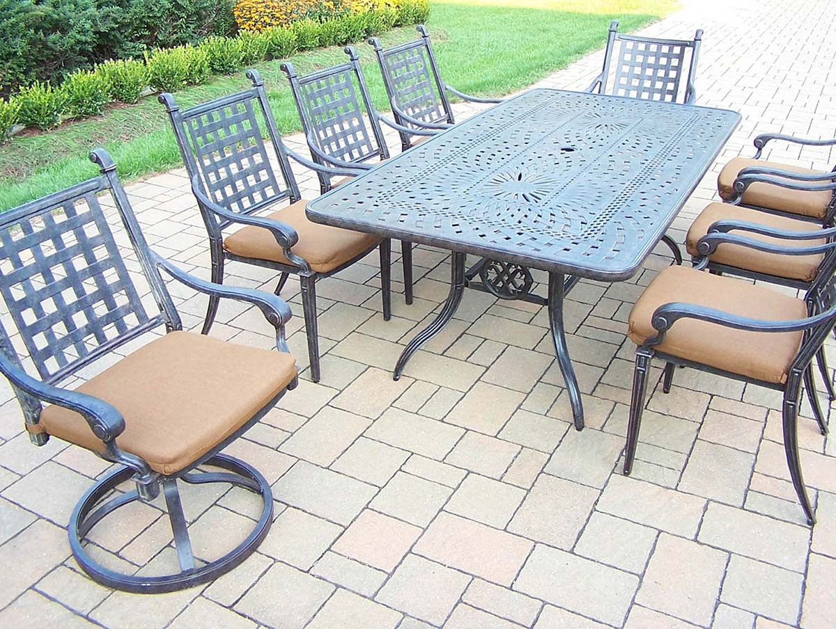 Purchase Aged Belmont Set Table Chairs Swivel Rockers Product Photo
