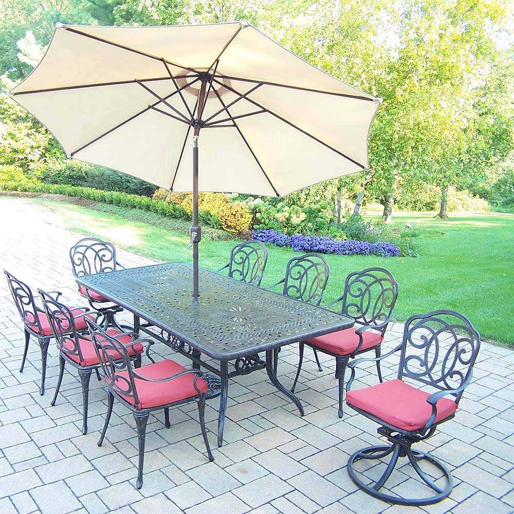 Search Aged Berkley Set Table Chairs Umbrella Product Photo