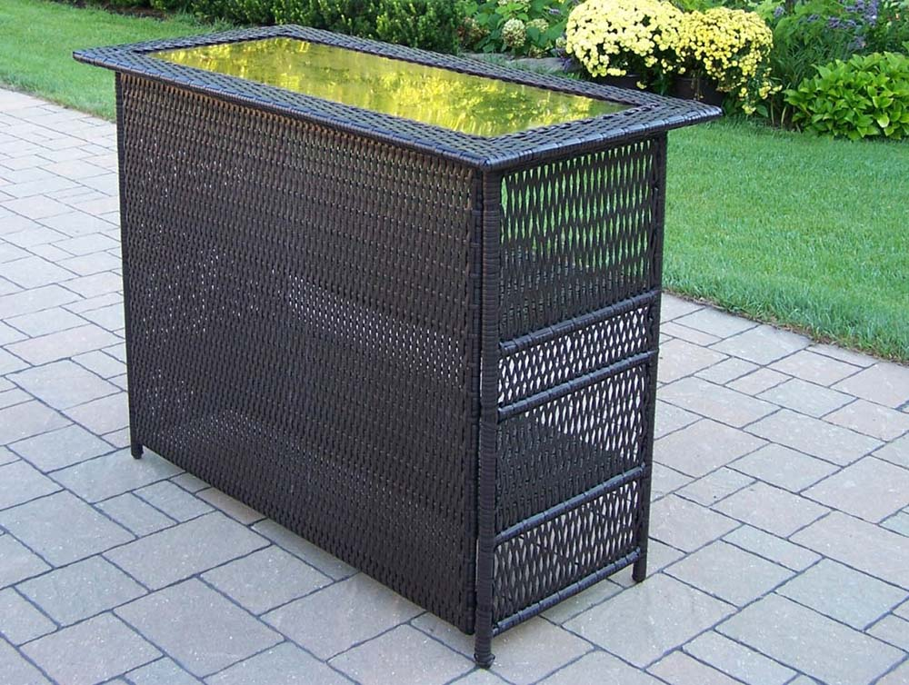 Excellent Coffee Elite Resin Wicker Bar Table 15 594