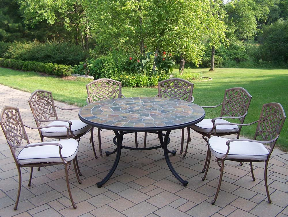 Splendid Antique Bronze Dining Set Table Cushions Product Photo