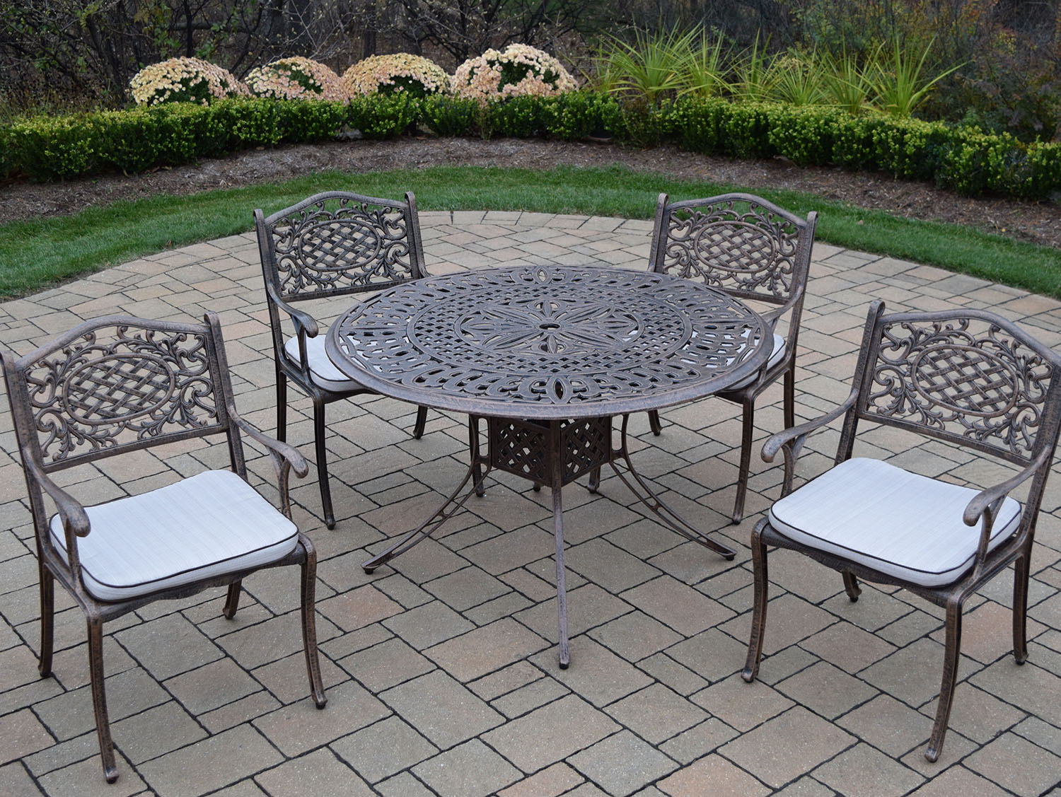 Choose Capitol Antique Bronze Dining Set Cushions 13 2303