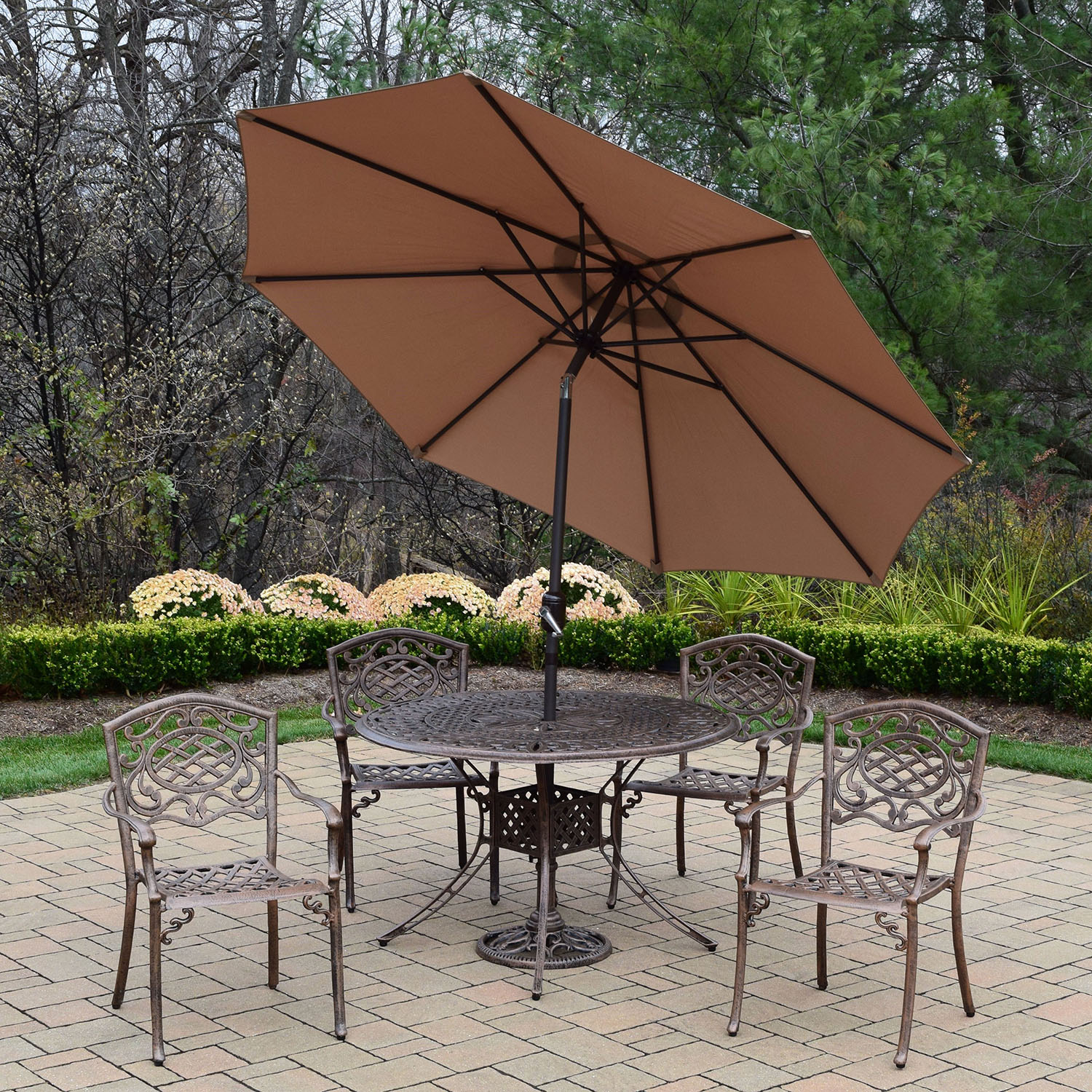 Buy Capitol Mississippi Antique Bronze Cpbn Dining Set Product Photo