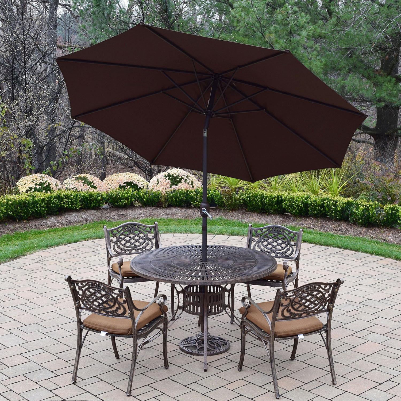 Order Sunray Antique Bronze Dining Set Umbrella Product Photo
