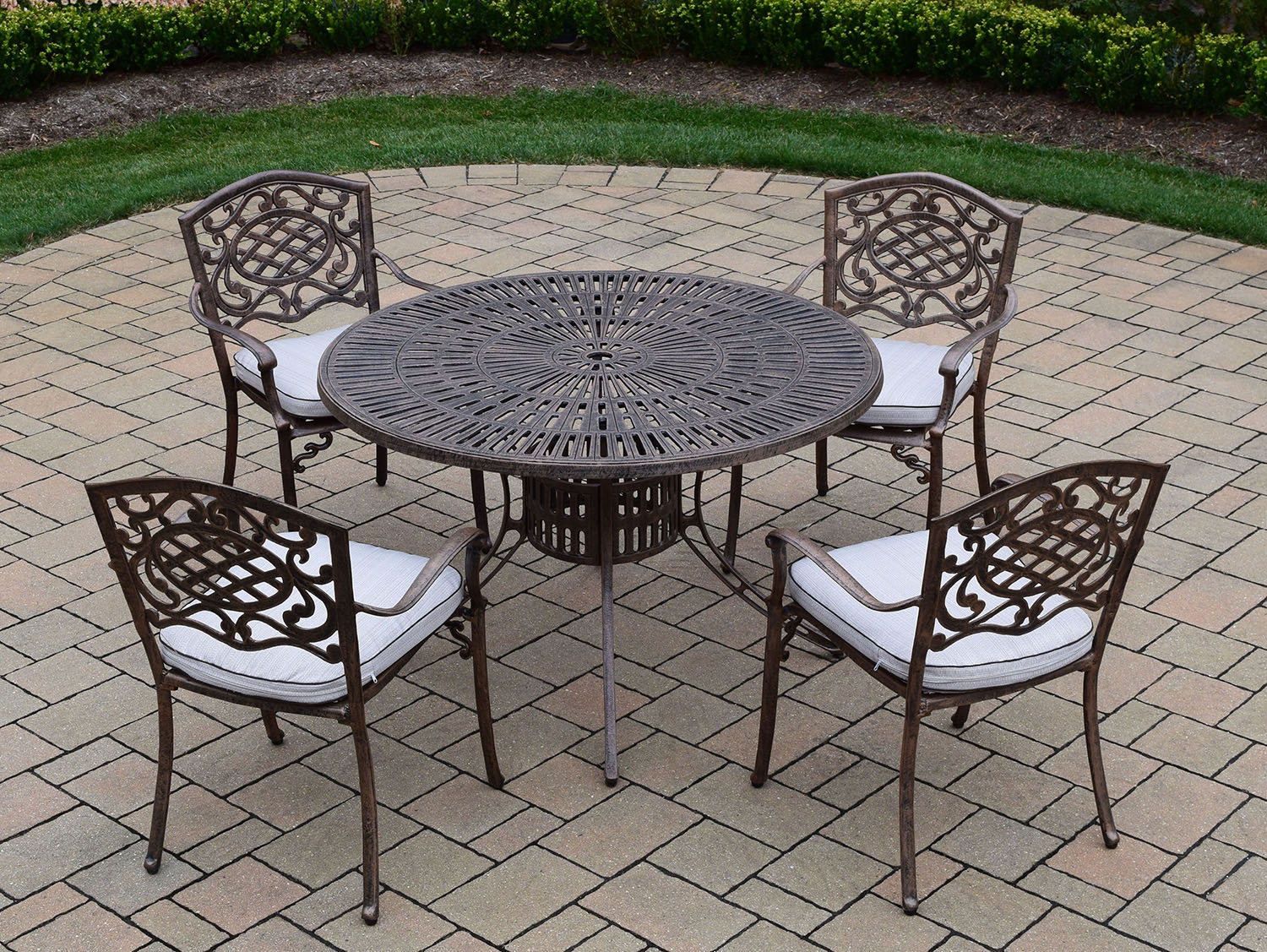 Select Sunray Antique Bronze Cushion Dining Set 57 324