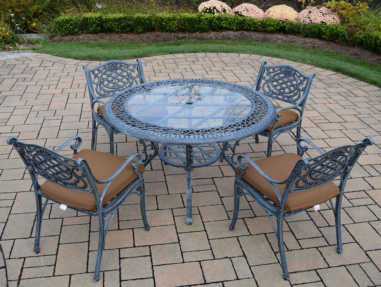 Best-selling Verdi Grey Mississippi Glass Top Cushion Dining Set 9 865