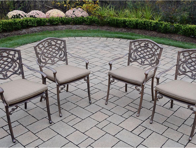 Precious Mississippi Verdi Grey Arm Chair Tan Cush  Product Photo