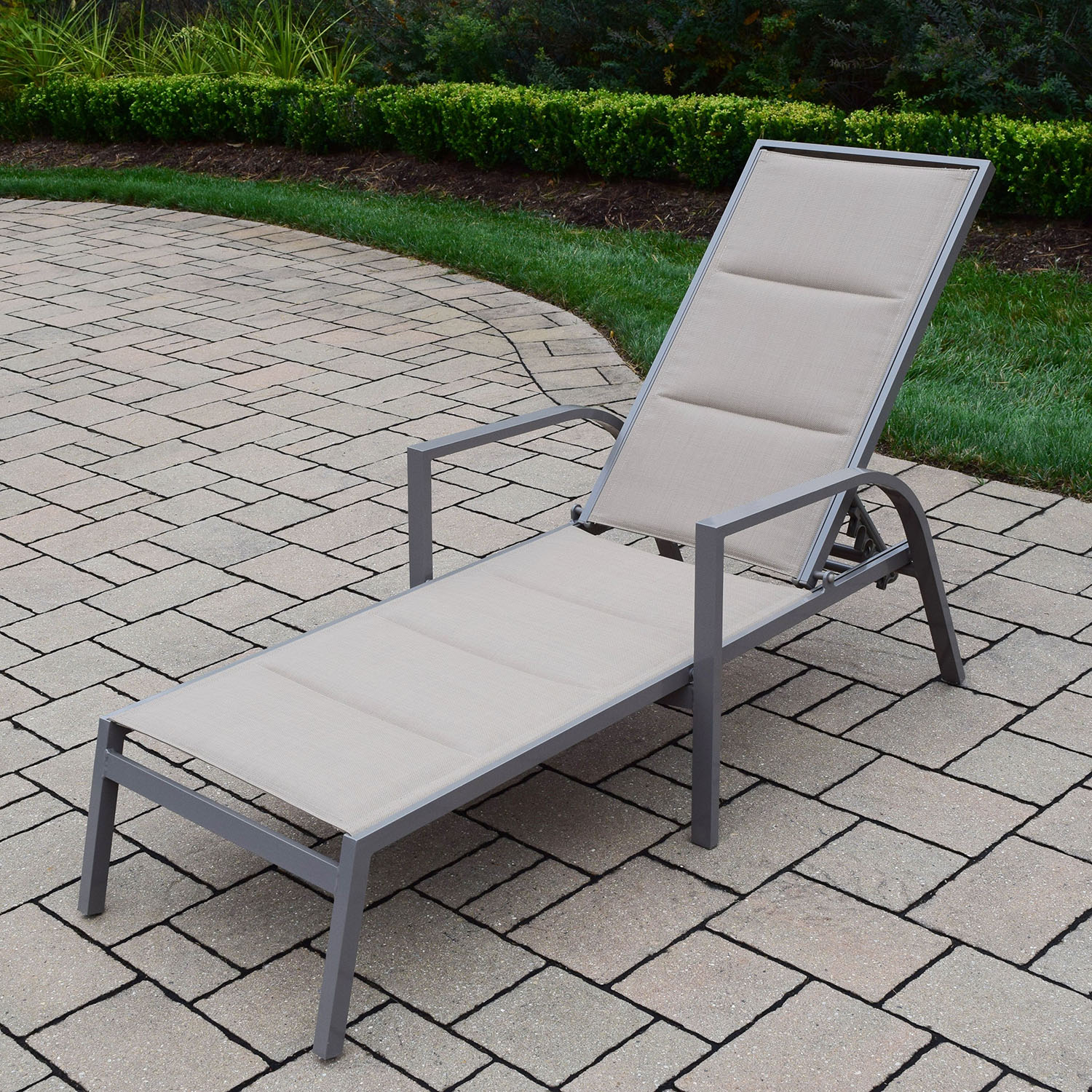 Optimal Padded Sling Aluminum Chaise Lounge Chair Product Photo
