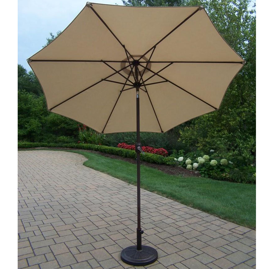 View Beige Crank Tilt Umbrella Stand Product Photo