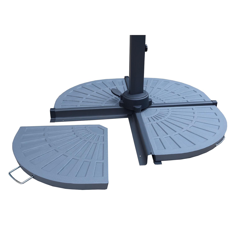 Grey Cast Rust Free Polyresin Fan Shape Umbrella Stand