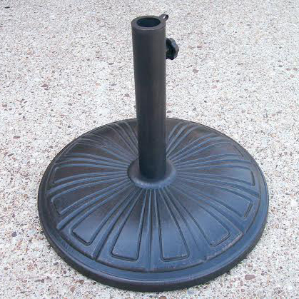 Oakland Living Black Cast Concrete Umbrella Stand 4232 Us28 Ab