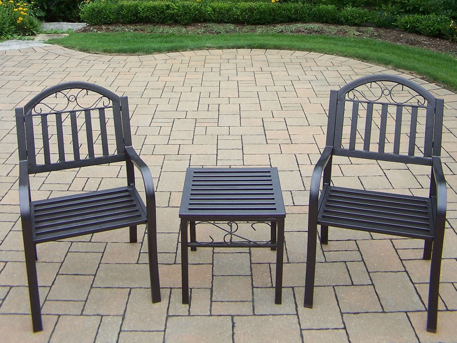 Choose Chat Set Rochester Arm Chairs Side Table Product Photo