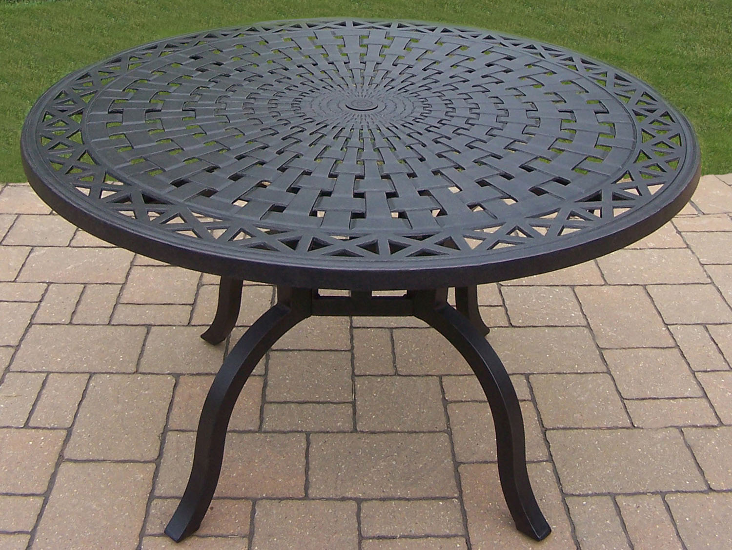 Learn more about Hampton Aluminum Diameter Dining Table Product Photo