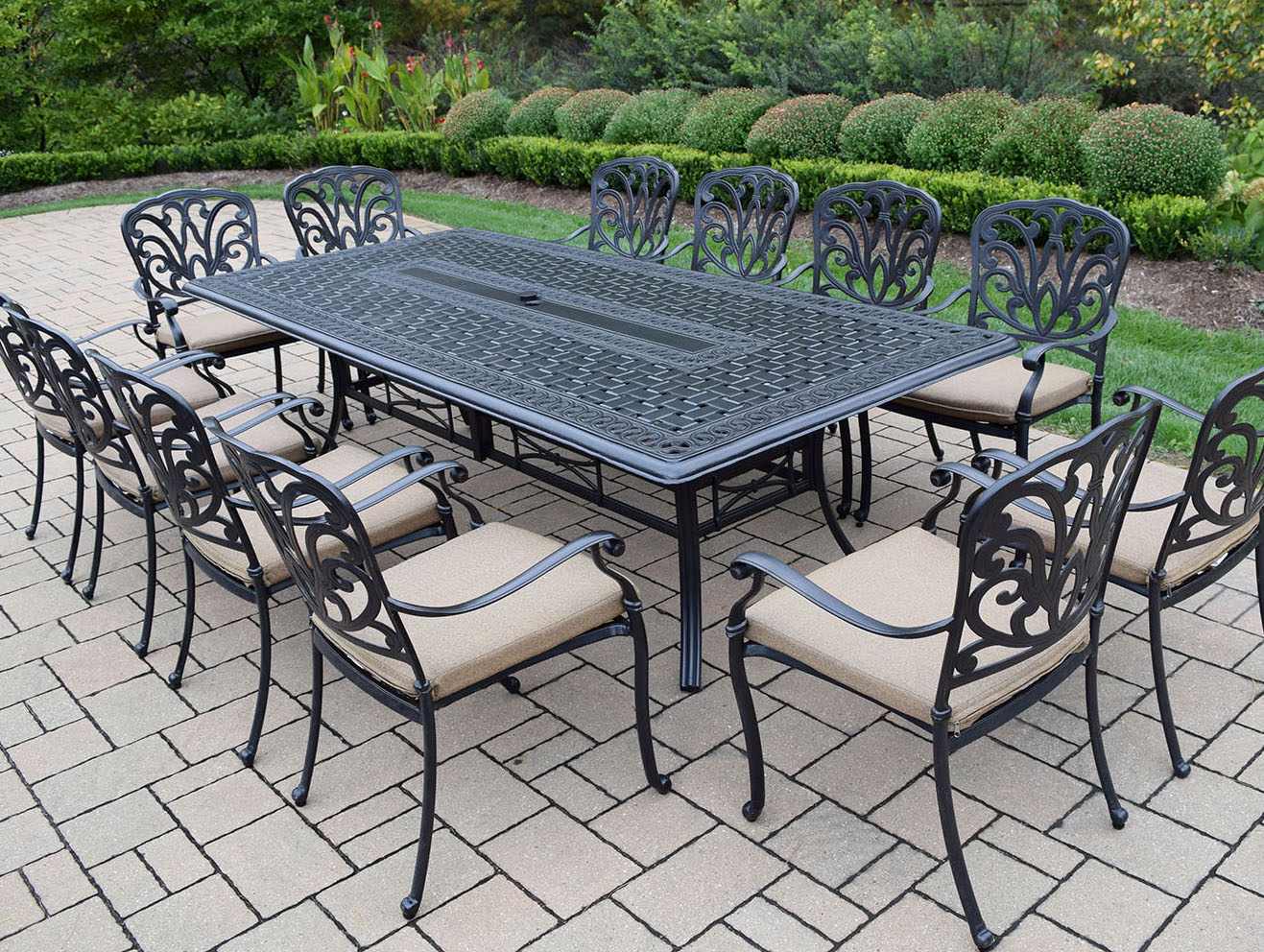 Purchase Hampton Dining Set Beige Cushioned Chairs Product Photo