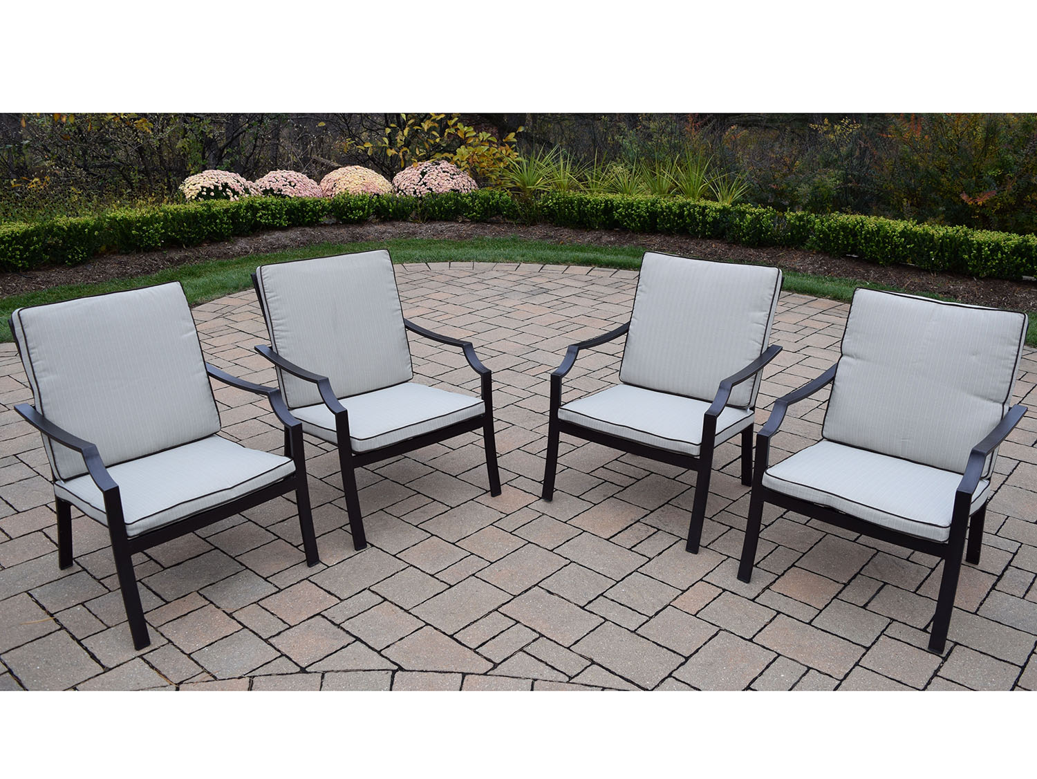 Design Stackable Aluminum Deep Seating Chat Chairs  Product Photo