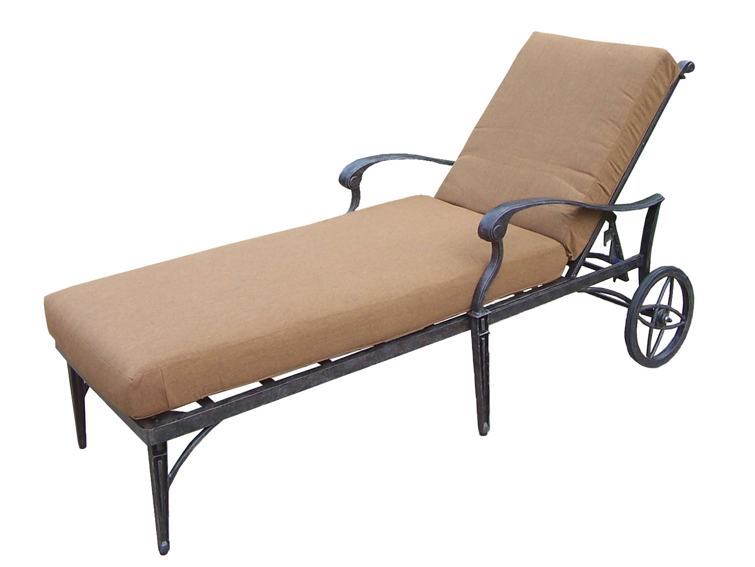 Affordable Belmont Aluminum Chaise Lounge On Wheels Product Photo
