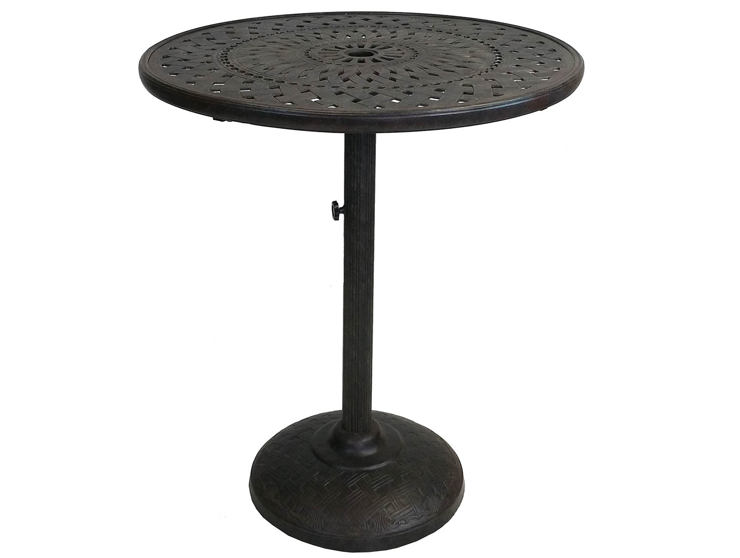 Belmont 36 Inch Bar Table W/ Built In Umbrella Stand