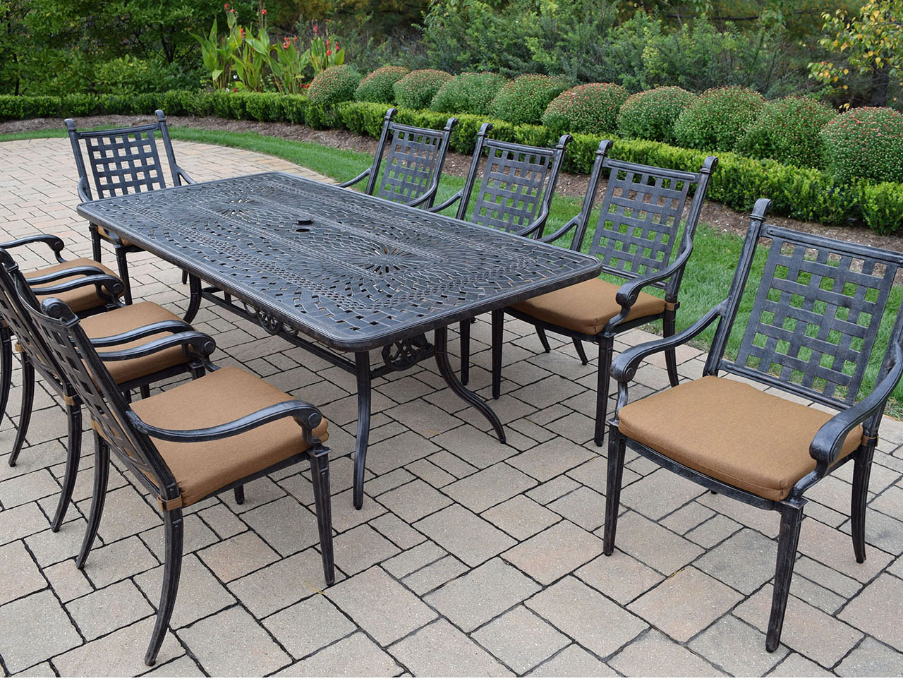 Info about Belmont Patio Dining Set Table Product Photo