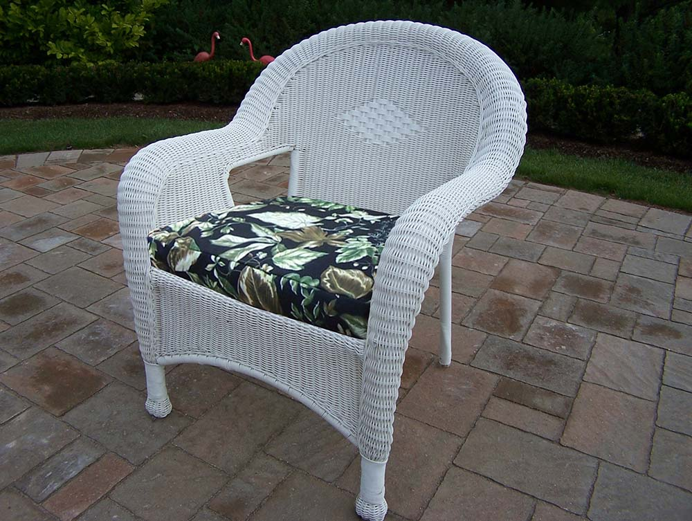 White Plastic Wicker Chairs Oakland Living Resin Wicker Arm Chair Pack Of 2 White White Resin