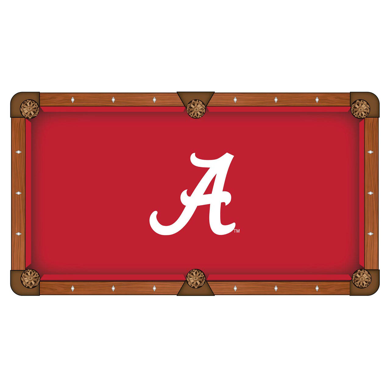 User friendly University Alabama Logo Pool Table Cloth Product Photo