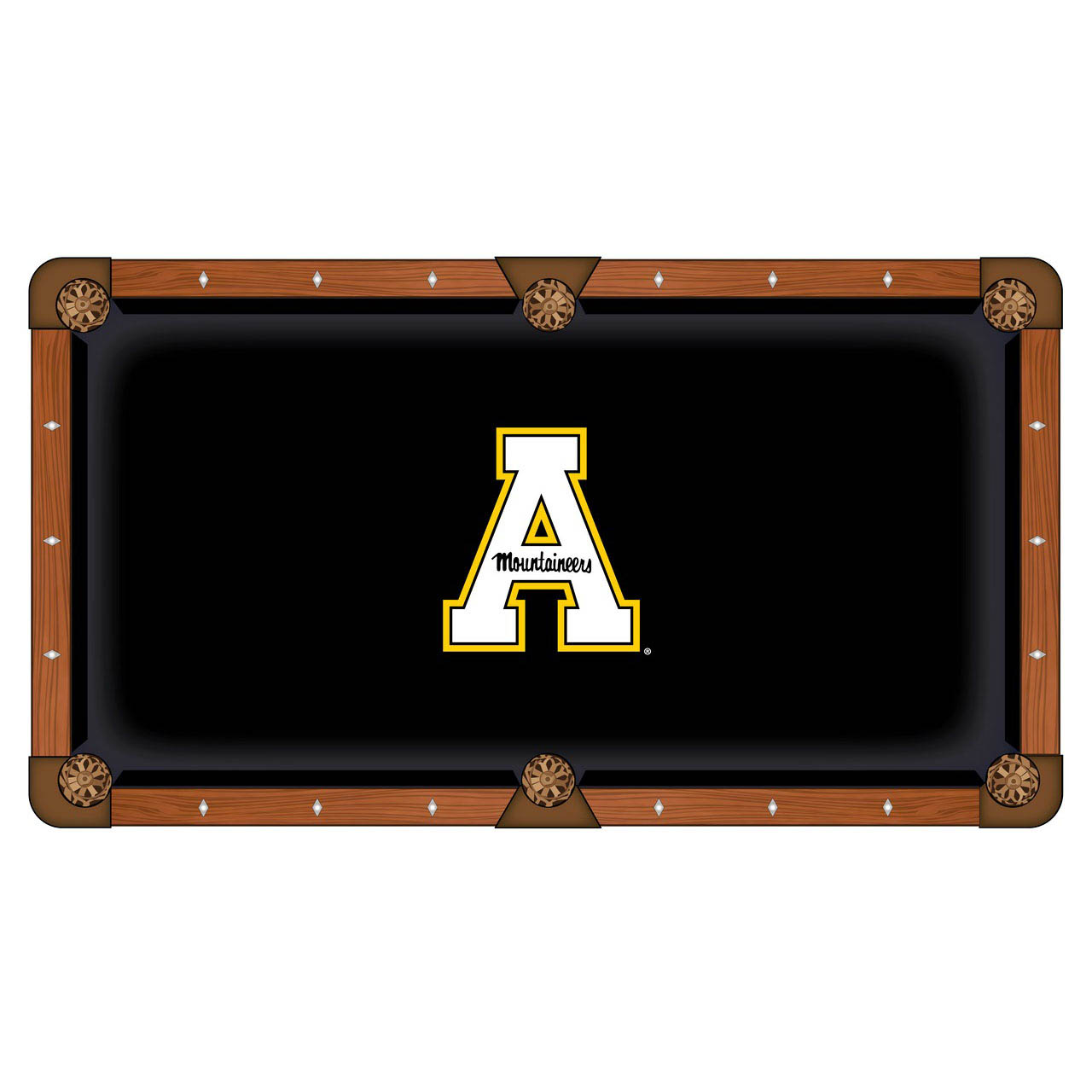 Stylish Appalachian State University Pool Table Cloth Product Photo