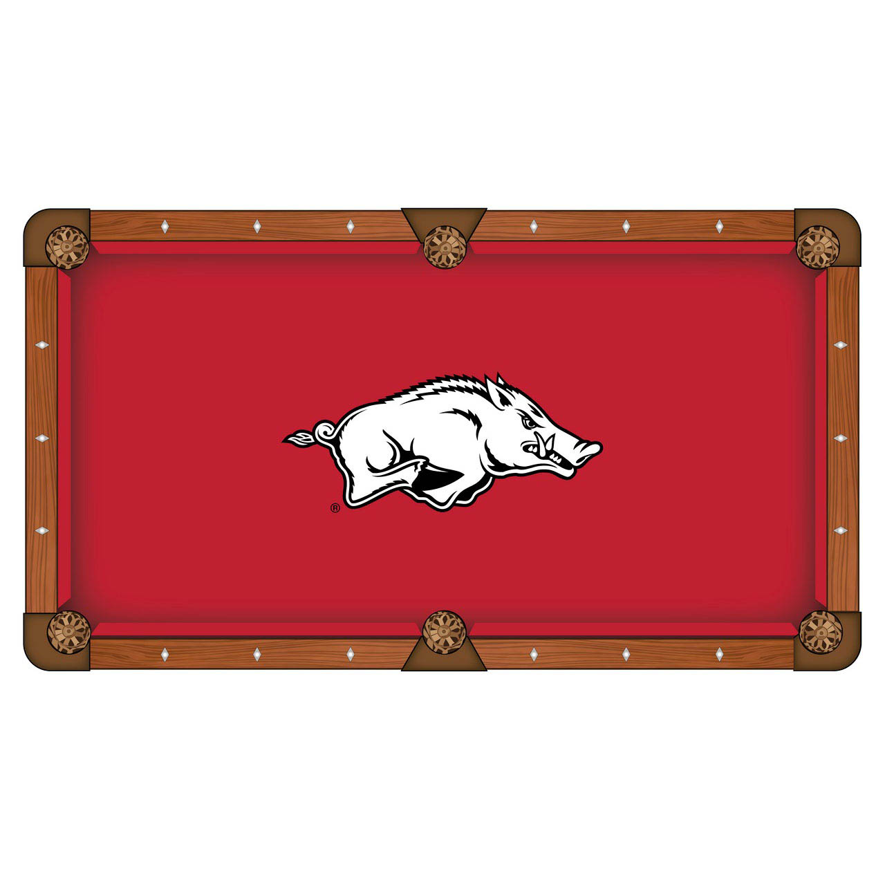 Stylish University Arkansas Pool Table Cloth Product Photo