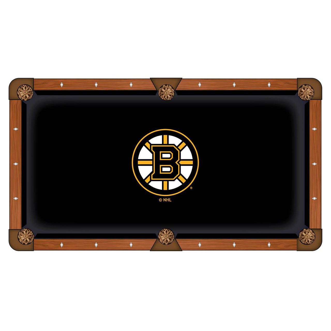 Lovable Boston Bruins Pool Table Cloth Product Photo