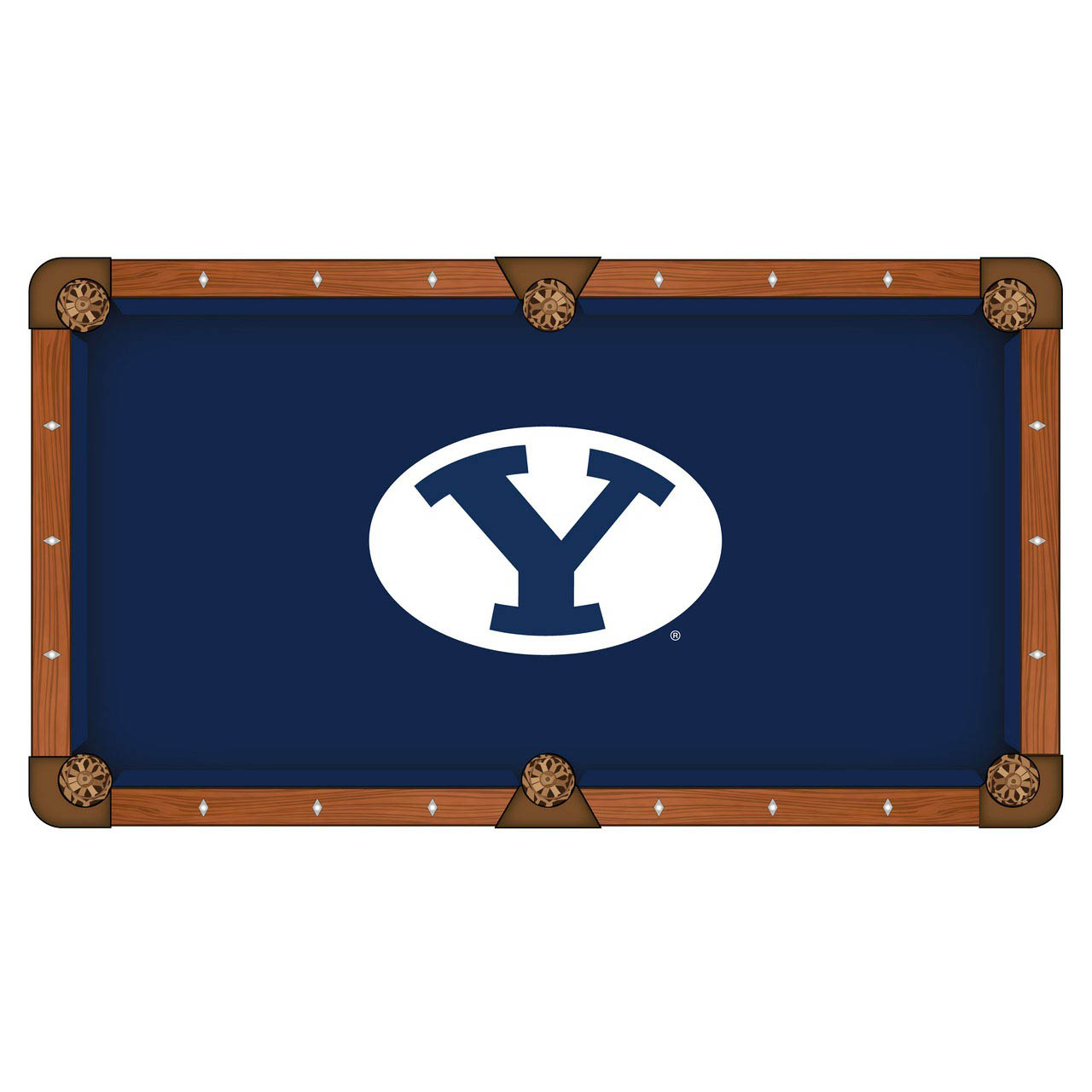 Superb-quality Brigham Young University Pool Table Cloth Product Photo